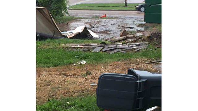Storm Damage in Flora where a possible tornado touched down