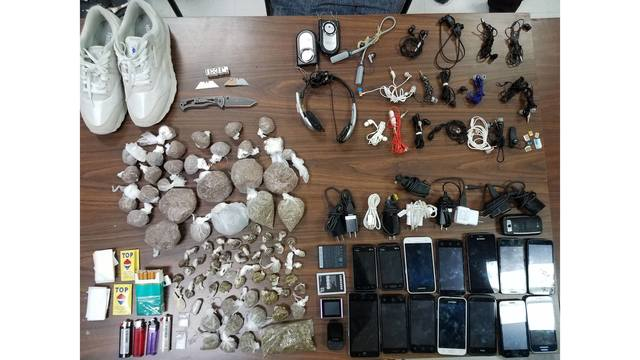Contraband seized at Issaquena County Correctional Facility.