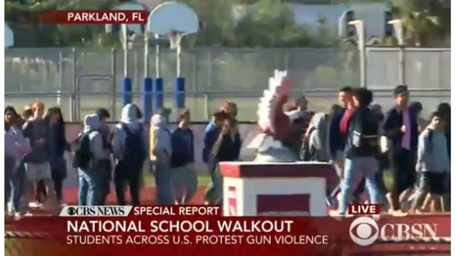 Students participate in National School Walkout Day