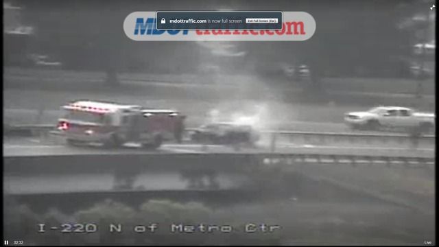 TRAFFIC ALERT: Car fire on I-20 E. to I-220 N.