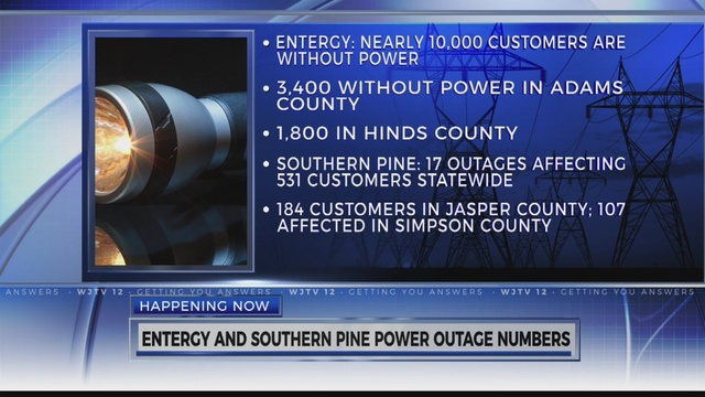 Entergy, Southern Pine reporting multiple power outages