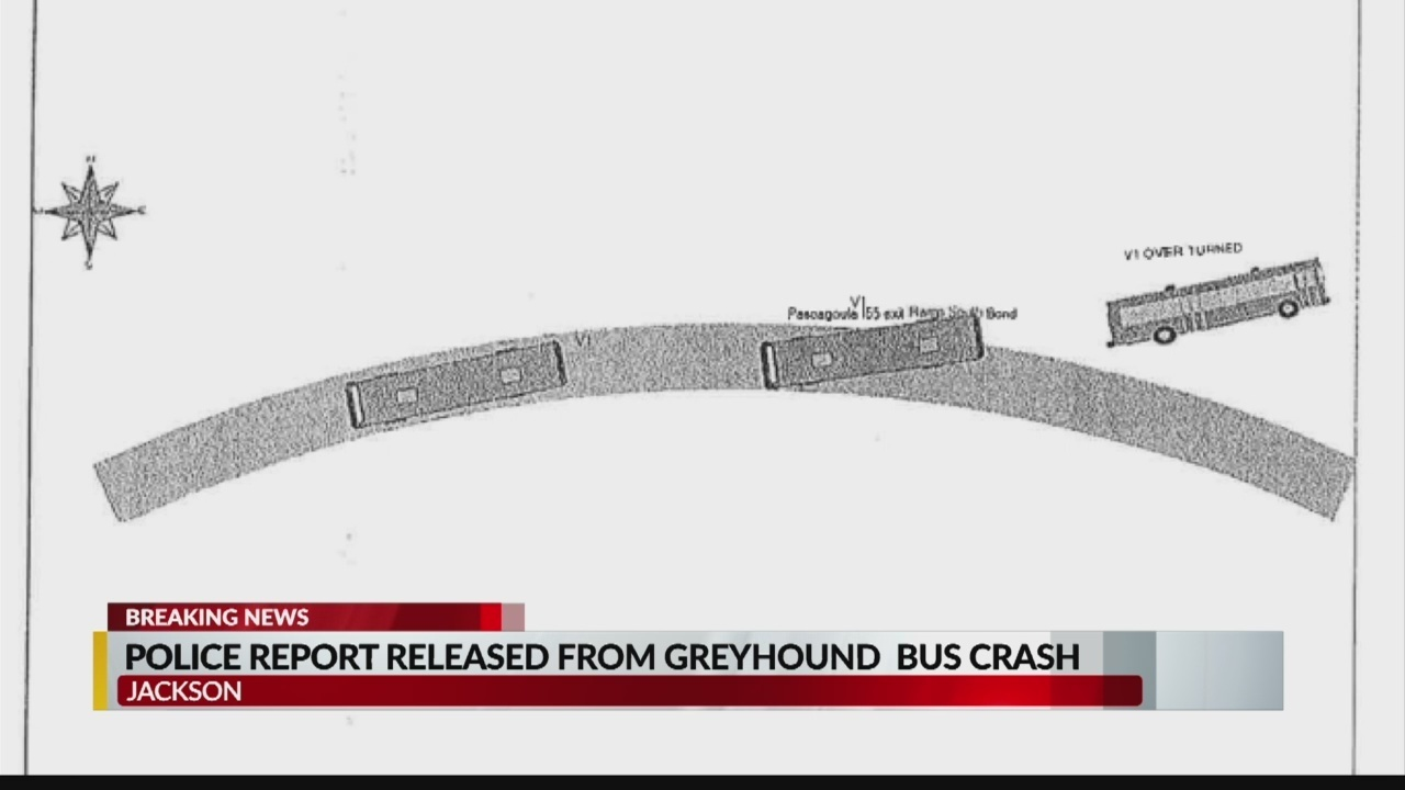 Police Report released from Greyhound crash
