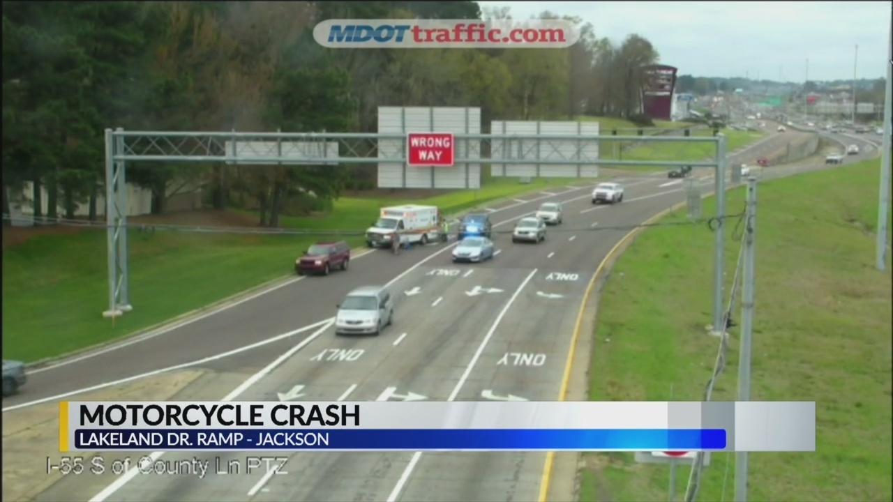 Motorcycle crash on I55 Northbound near County Line Road